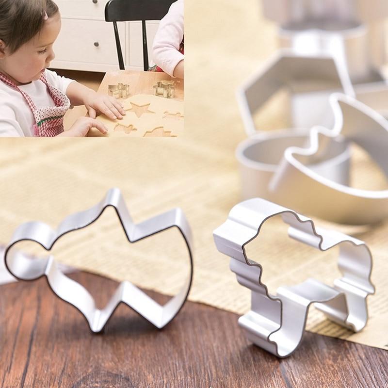 10Pcs Forma për Cookie Fondant Cake Biscuit Cutter 3D DIY Sugar - Kuzhinë, ngrënie dhe bar