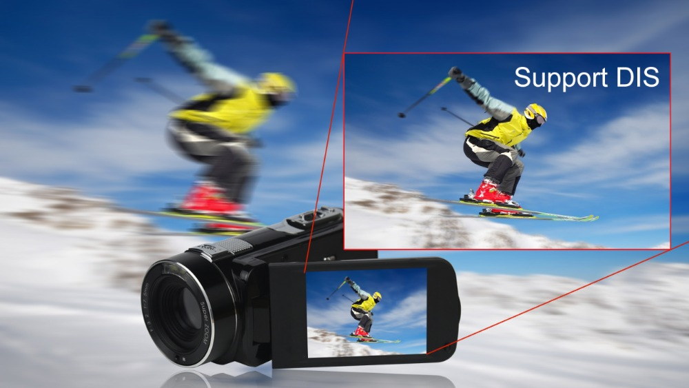 """FHD 1080P Digital Video Camera fotografica Camcorder MP 3"""" Screen External Battery Support SD Card with HDMI Output filmadora 9"""