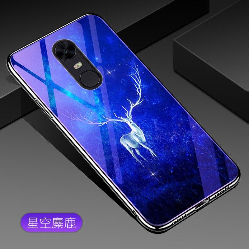 Bleu Lumière de Téléphone En Verre Trempé Pour Xiaomi Redmi Note 4 4X5 5Pro Cas Électrolytique Tpu Bord Pour redmi Note 5 Pro Couverture