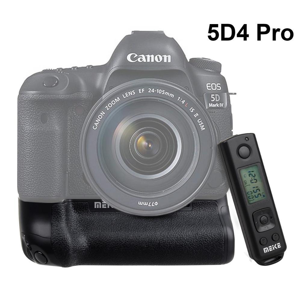 Батарейная ручка Meike MK 5D4 PRO с беспроводным пультом дистанционного управления 2,4G для камер Canon 5D Mark IV, подходит для BG E20 батарей Canon LP E6