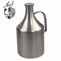 KEG STORM 64 OZSteel Beer Growler S tainless Steel with Swing Top, Keeps Homebrew Fresh and Cold with Airtight Seal