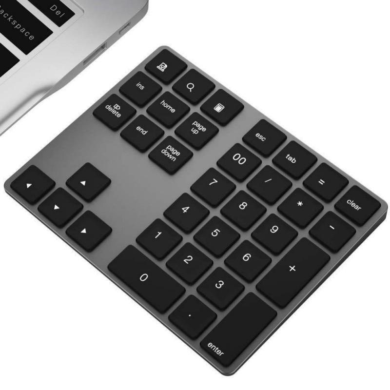 34 Keys Bluetooth Wireless Numeric Keypad Mini Numpad With More Function Keys Digital Keyboard For PC Macbook Number Pad Mini