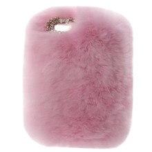 Супер роскошный сверкающий чехол с кристаллами бантом Пушистый Зимний теплый меховой пушистый чехол из кроличьего меха для iPad Pro 9,7 дюйма