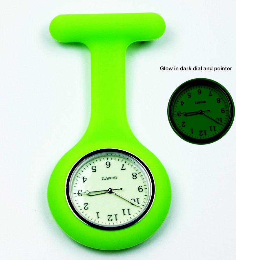 Kleur siliconen horloge verpleegster fob zakhorloge verpleging ziekenhuis gift verpleging studenten Japanse quartz ziekenhuisklok ALK VISION