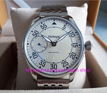 44mm PARNIS Milk-white dial Asian ST3600/6497 Mechanical Hand Wind movement Mechanical watches  men's watches sdgd036A