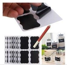 1Liquid Chalk Marker/Set Blackboard label Craft Kitchen Jar Organizer Chalkboard labels Board Stickers Black