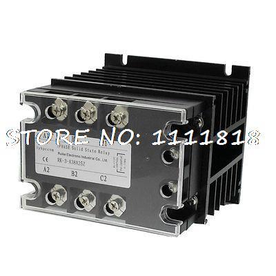 цена на Control 90-280VAC Load 380VAC 25A SSR Solid State Relay w Heat Sink Mygaa