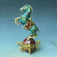 Antique bronze Qianlong Cloisonne non stop horse riding Qiankun lucky feng shui ornaments Home Furnishing ornaments