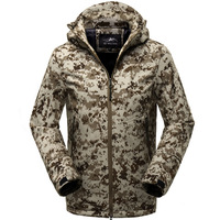 XMY3DWX Shark Skin Soft Shell Military Tactical Jacket Men Waterproof Army Fleece Clothing Multicam Camouflage Windbreakers 5XL