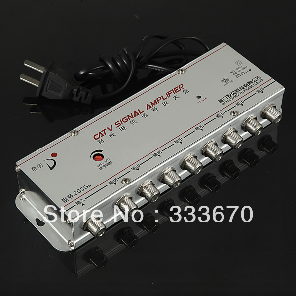 8 Way Distribution Box CATV TV Aerial Signal Amplifier Booster Radio Splitter