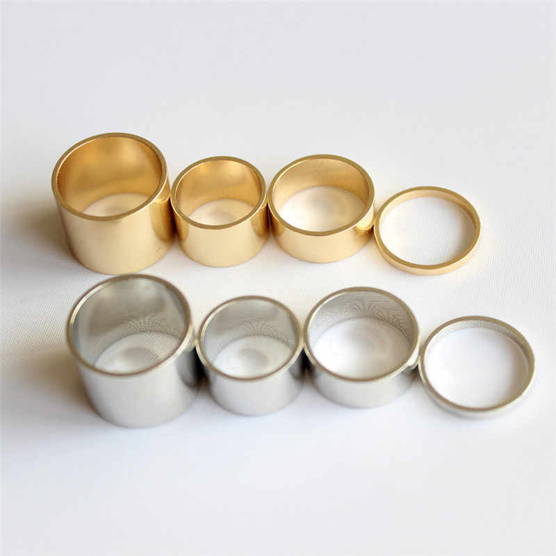 Attractive Rings Different Heights  Simple  Golden Silver Midi Rings for Women 4 pcs per set