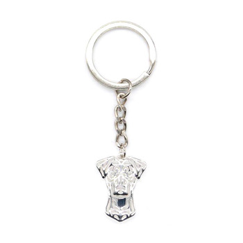 Fashion Jewelry Metal German Pinscher Dog Key Chains Lovers' Alloy Animal Pendant Key Chains image