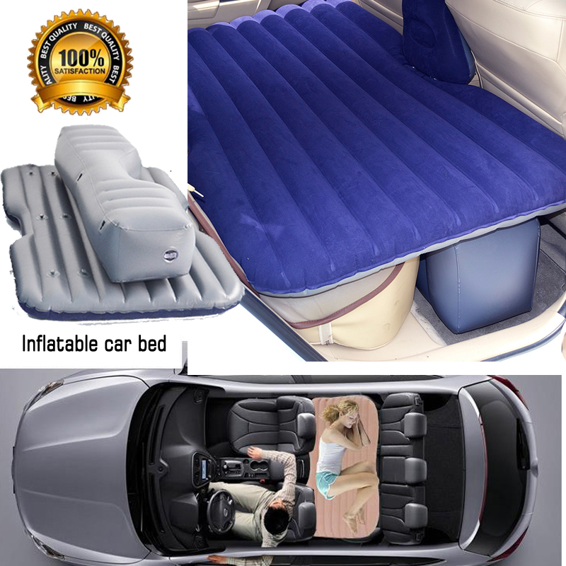 Livraison rapide nouveau flocage lit de voiture gonflable voiture gris housse de siège voiture matelas d'air lit de voyage matelas gonflable lit d'air