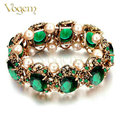 VOGEM 2016 Vintage Antique Bracelet for Women Antique Gold Plated Charm Bracelet Jewelry Pulseira Feminina Tuekish Jewelry