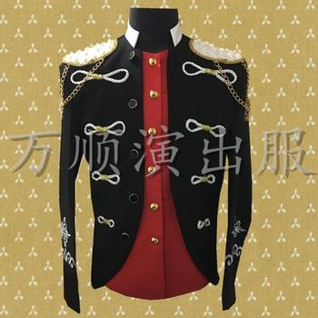 Black clothes men suits designs masculino homme terno stage costumes for singers jacket men blazer dance star style rock punk