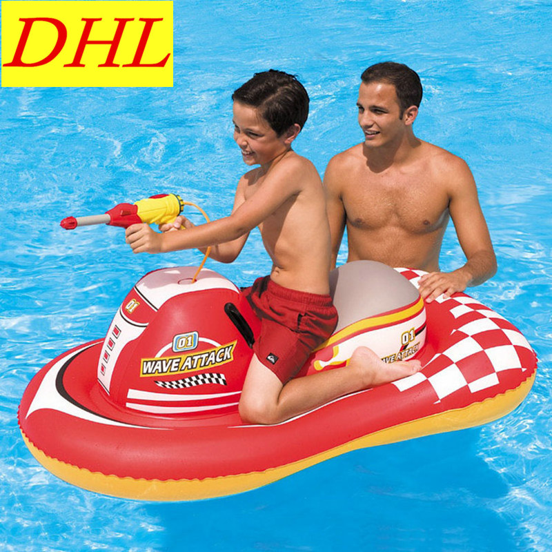 Inflatable Water Gun MotorBoat Floating Mat Swimming Pool Outdoor WATER PARK Sunbathe Ship Mattress Swim Ring Summer Toy L1949