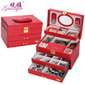 Guanya Jewelry Packaging & Display Box 4 layers Jewelry Box Storage Case Necklace Ring Jewellery Display Container Organizer