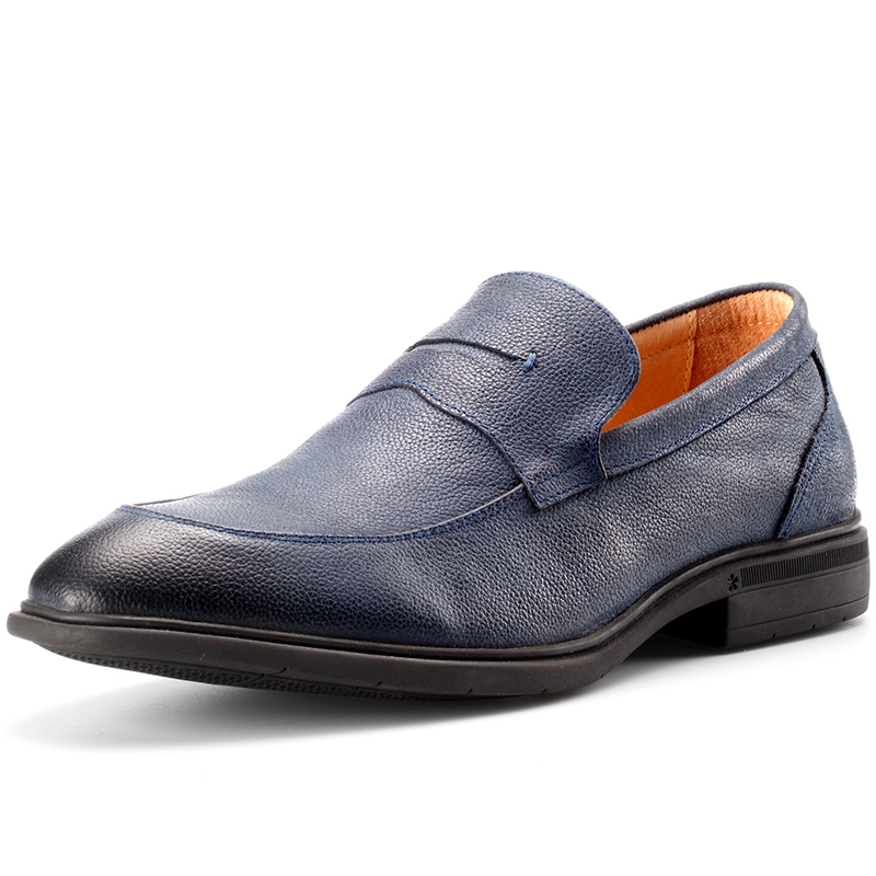 Cuir Pour noir Slip Sur Souple brun Casual Hommes bleu marron Maloneda Confortable En Les Bleu Mocassins Véritable Chaussures Noir EqwI0z7H