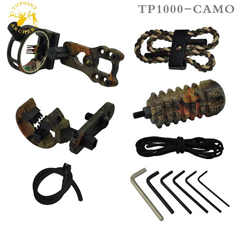 Professional Compound Bow Accessories Upgrade Combo Archery Bow Sight Kits Arrow Rest Stabilizer for Compound Bow