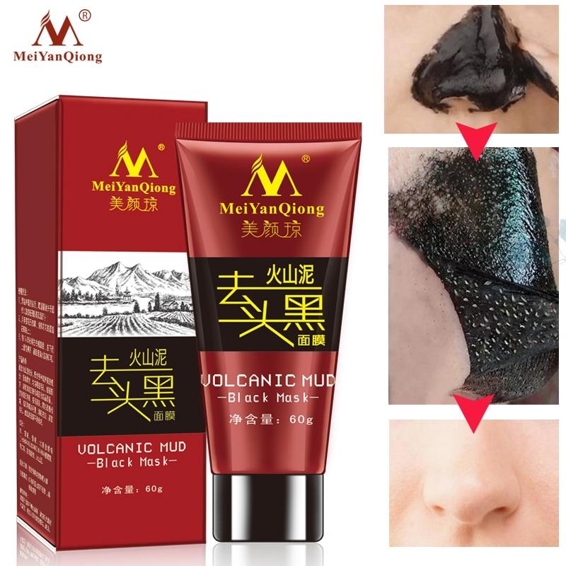 2018 boue volcanique masque noir soins du visage acné point noir traitement d'élimination blanchissant hydratant masque Anti-âge crème