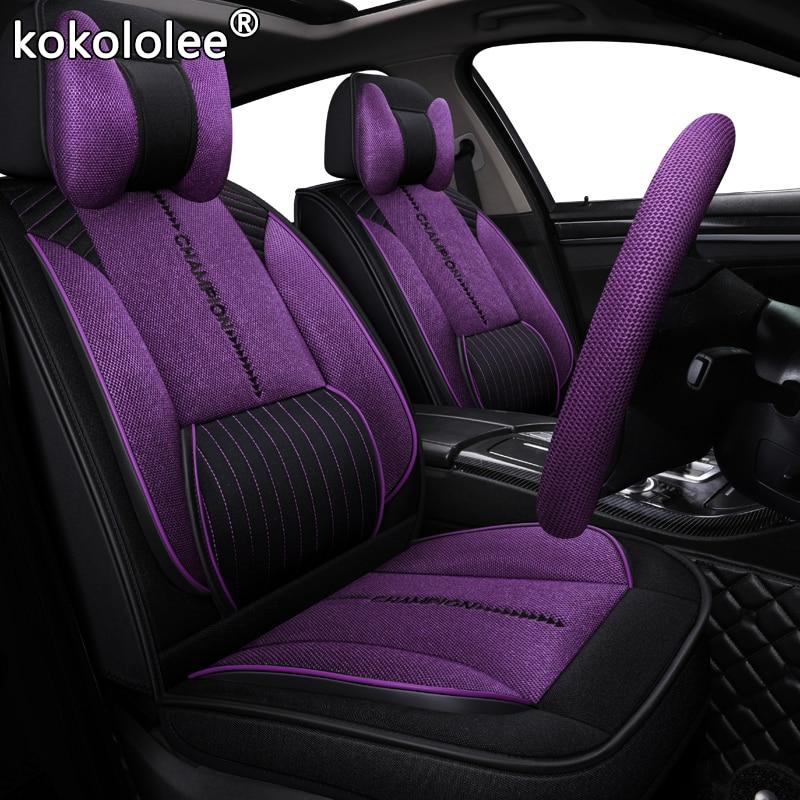 Тканевый чехол для автомобильного сиденья kokoleee для lexus nx toyota avensis land rover freelander hyundai solaris ford ranger защита автомобильных сидений