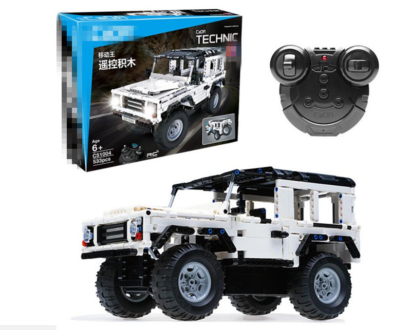 533pcs Technic Series RC Remote Control SUV Car Building Block Brick Toy Compatible legoing technican technic 2 4ghz radio remote control flatbed trailer moc building block truck model brick educational rc toy with light