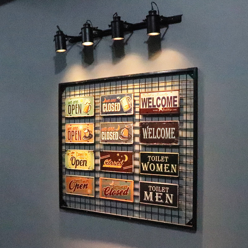 2019 dl vintage signs open closed welcome tin metal painting car