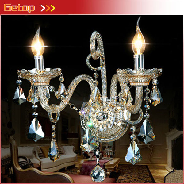 Best Price European Palace Luxury Vintage Crystal Wall Lamp K9 Crystal Lamp Bedside Lamp Living Room Wall Stud Candle Lighting