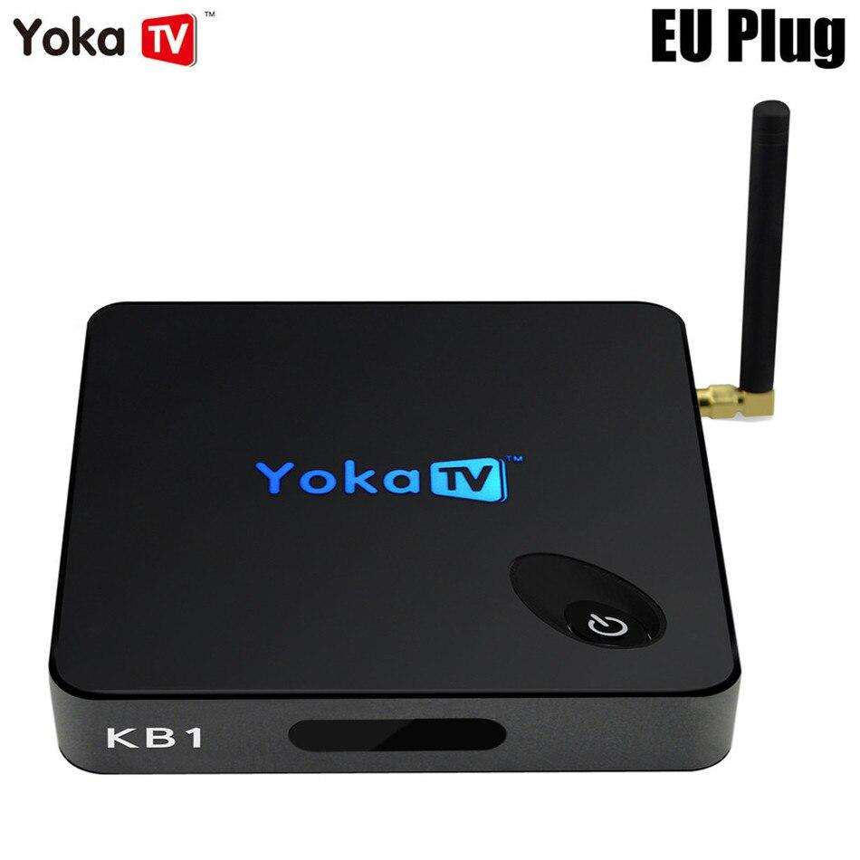 ФОТО YOKA KB1 Android 6.0 TV Box 2GB 16GBAmlogic S905X Quad Core 2.4G + 5.8G Dual Band WiFi BT 4.0 Mini PC Set-top Boxes Smart Box