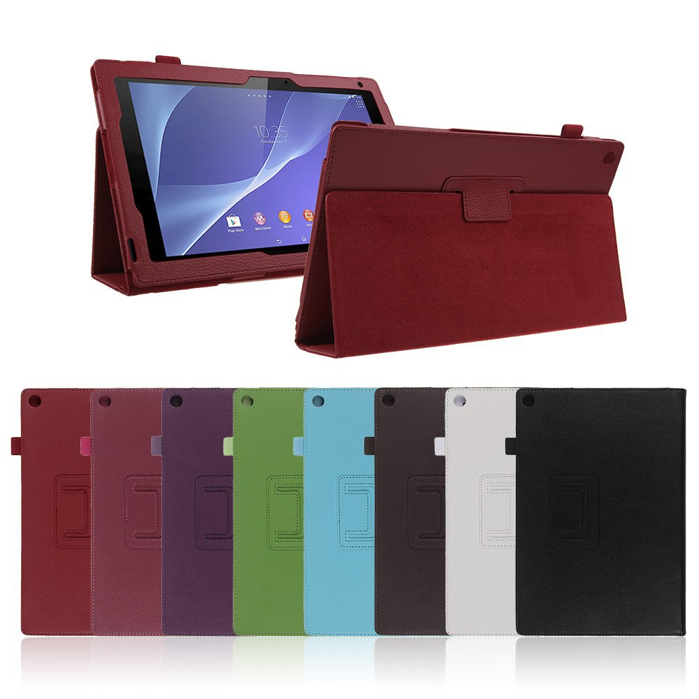 """Folio Leather Stand Case Cover Protective Skin For 10.1"""" Sony Xperia Z2 Tablet for sony Xperia Z2 case+HK Free Shipping Cheap!"""