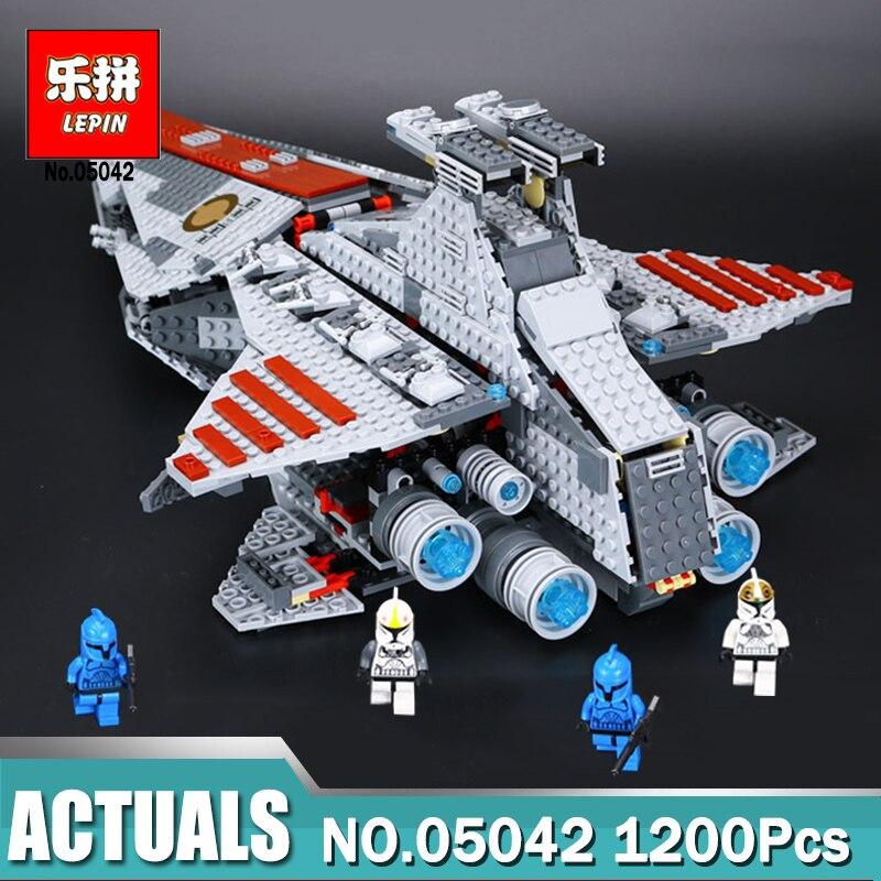 Lepin 05042 Série Star Wars La République Combats Cruiser Ensemble Blocs de Construction Jouets pour Enfants Compatible LegoINGlys 8039
