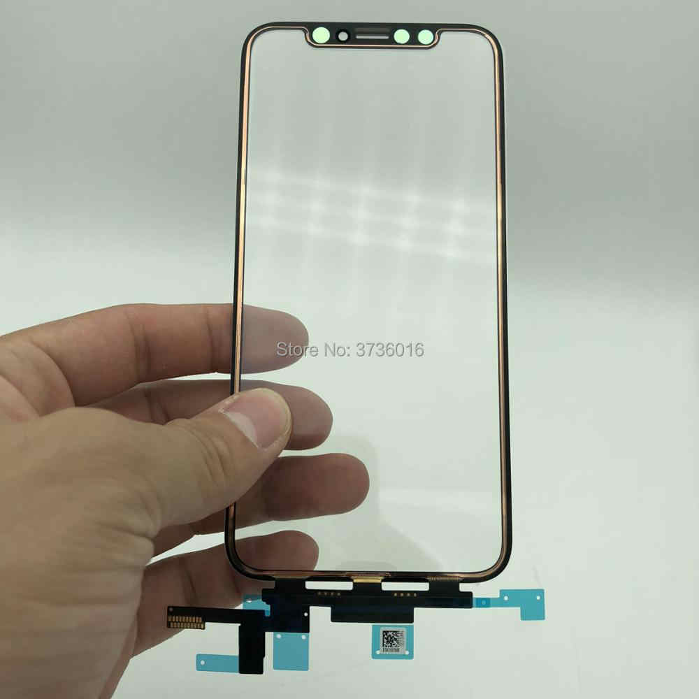 new style 873d7 d5fbb 2pcs Original new glass For iPhone x/xs/xs-max/xr cracked LCD display touch  screen front out glass panel replacement repair