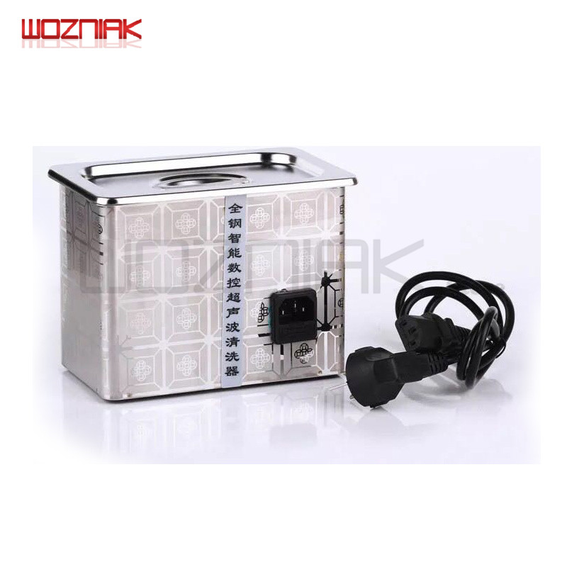 Wozniak Stainless Steel Ultrasonic Cleaner Bath for Mobile Phone Computer Watch Glasses IC Chip on the Main BoardWozniak Stainless Steel Ultrasonic Cleaner Bath for Mobile Phone Computer Watch Glasses IC Chip on the Main Board