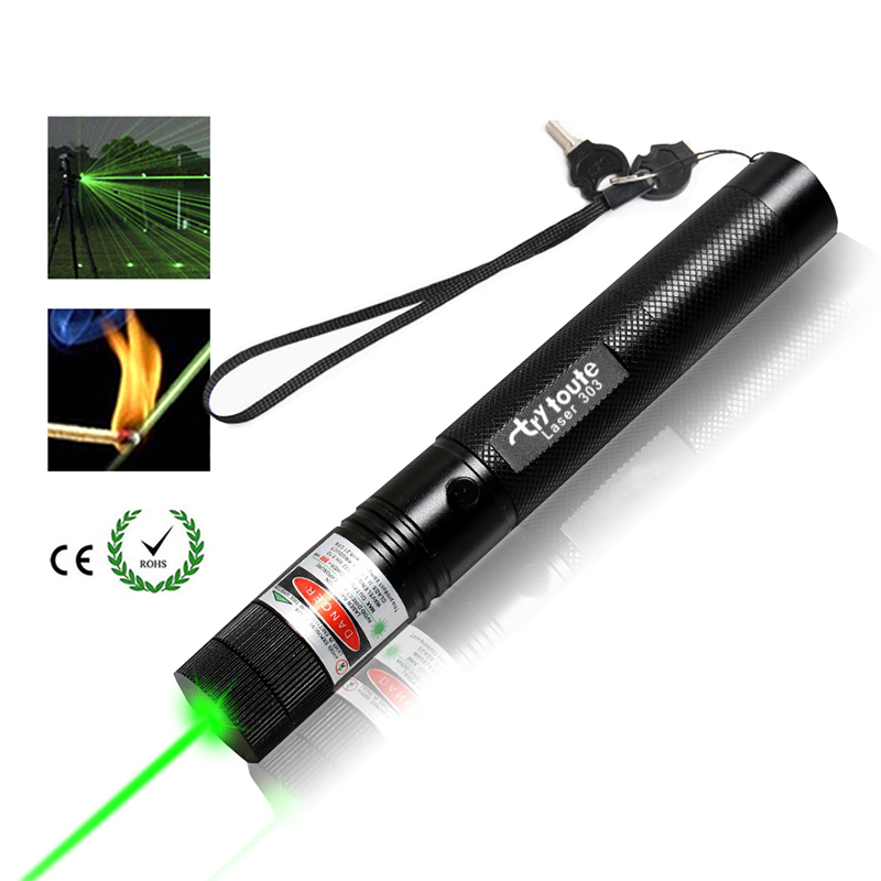10000 Meters ! Powerful 532nm Green 303 Laser Tactical Sight Rifle Scope Riflescope Hunting Laser Pointer For 18650 Batteries