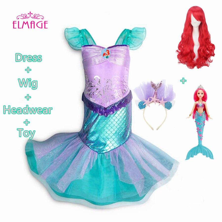 Pearl Diary Children Clothes Little Mermaid Cosplay Costume Fahsion Kid Girls Mermaid Dresses Princess Ariel Halloween Clothing