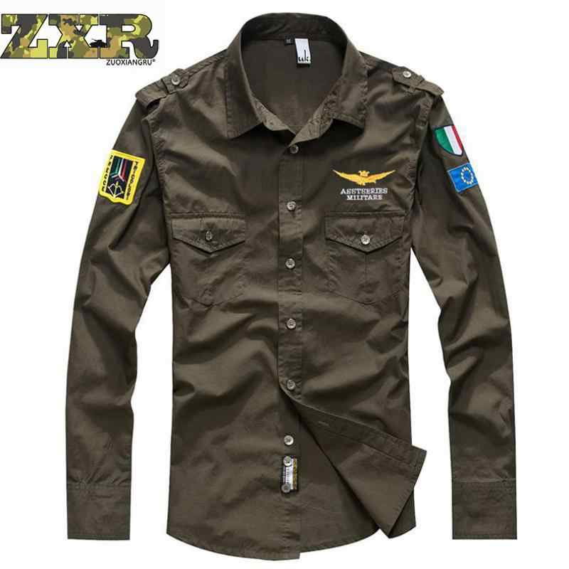 Camouflage T-shirts Militaire Uniform Us Army Combat Lange Mouw Shirts Cargo Airsoft Paintball Militar Tactische Kleding
