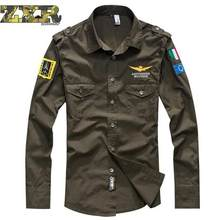 Camouflage T-shirts Military Uniform Us Army Combat Long Sleeve Shirts Cargo Airsoft Paintball Militar Tactical Clothing(China)