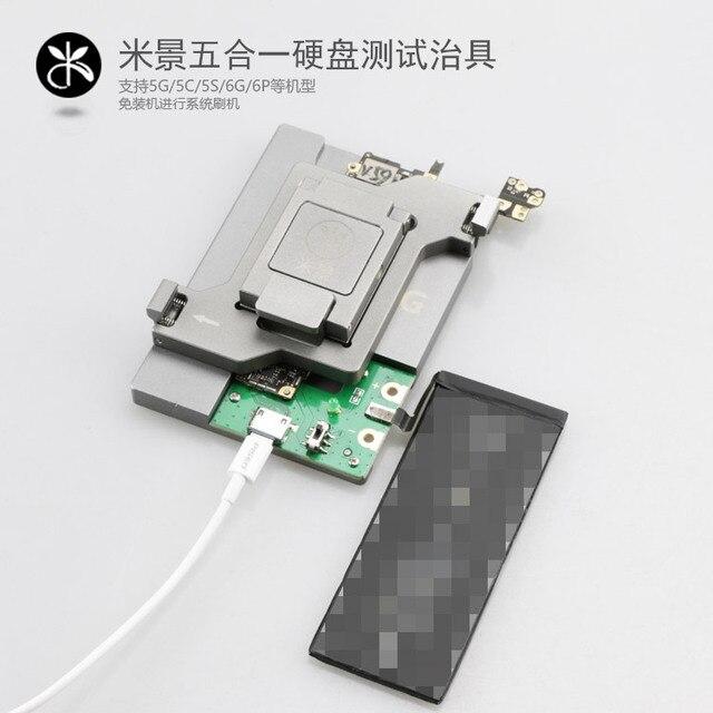 5 in 1 HDD mantık kurulu onarım sabit disk aracı fikstür test için iphone 5G 5 S 5C 6G 6 P NAND Flash bellek yongası IC anakart