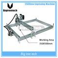 2500 mW DIY De Desktop Máquina de Gravura Do Gravador Do Laser CNC liga de alumínio e Material acrílico de Impressora A3 35*50 cm Área de trabalho