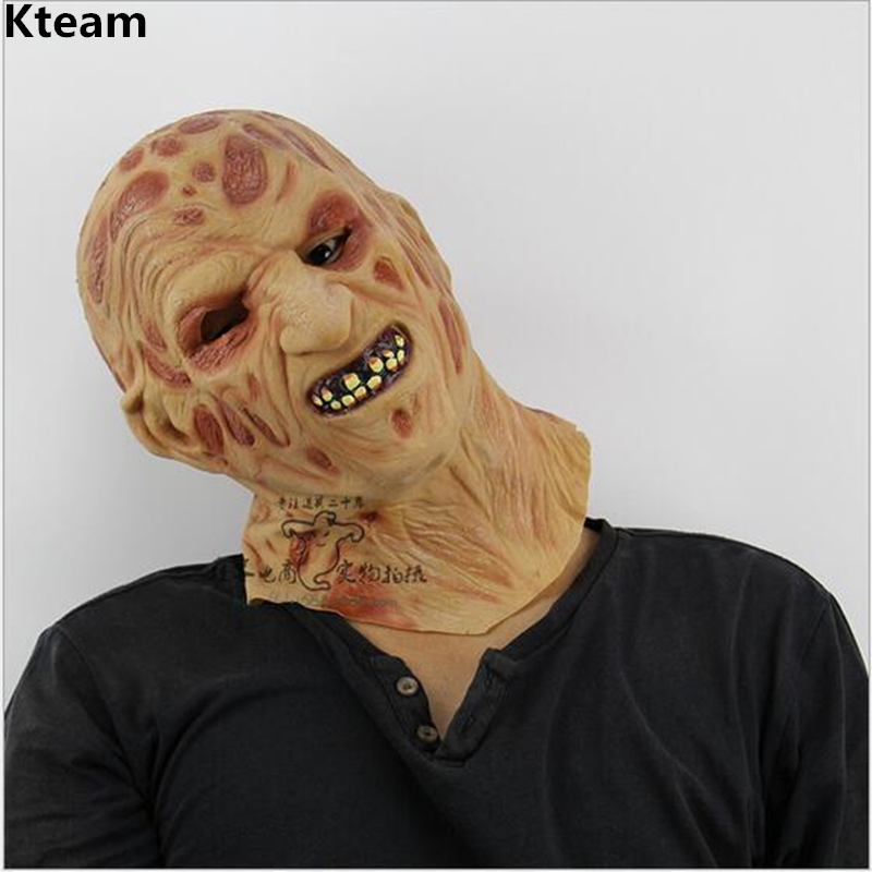 Hot Selling Realistic toys krueger costume props latex Freddy mask Halloween Horror Ghost Zombie Freddy Jason Mask old man Mask