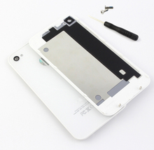 10pcs/lot Black & WhiteOEM Battery Cover For iPhone 4 4S Back Cover Door Rear Panel Plate Glass Housing Replacement