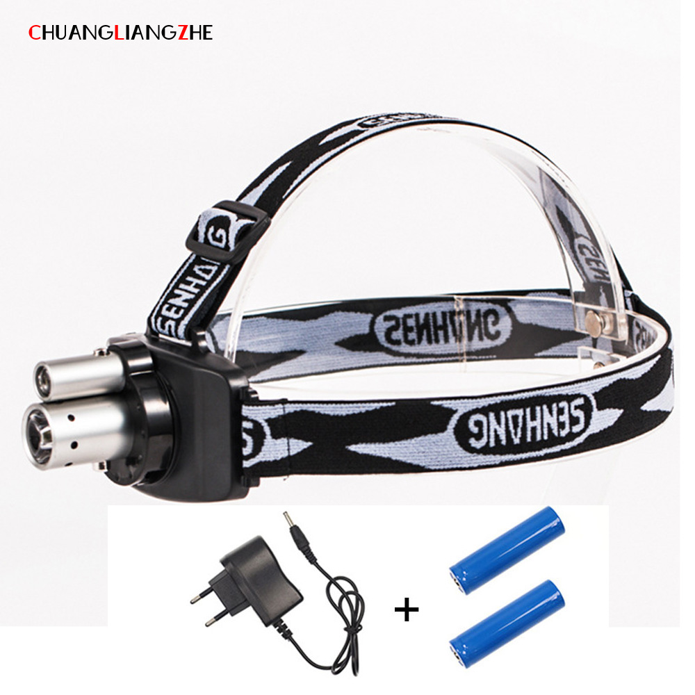 CHENGLIANGZHE LED T6 Light Long Shot Head Lamp Outdoor Led Mining Light Night Fishing Camping Zoom Charge 18650 Battery
