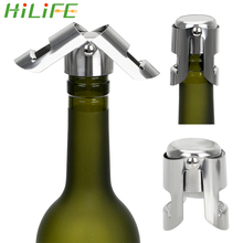 HILIFE из нержавеющей стали для шампанского сверкающая Пробка-стоппер крышка бутылки винная, пивная бутылка пробковая заглушка вина затычка для бутылок Инструменты