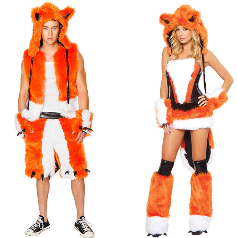 Adult costume bear fox