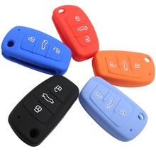цена на Remote 3 Buttons Silicone Folding Flid Car Key Case Cover For Audi A2 A3 A4 A6 A6L A8 S5 Q7 TT Holder