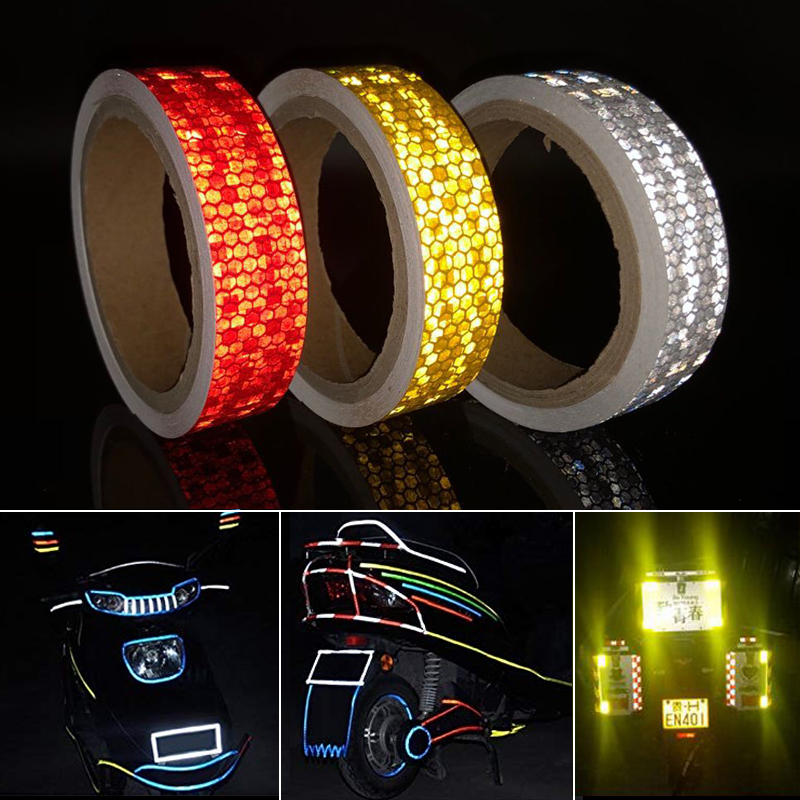 3M Bike Stickers Decals Reflective Stickers Strip Bicycle Reflective Tape Sticker Bicycle Wheel Bike Bicycle Accessories
