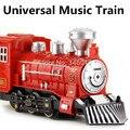 Simulation Train Universal electric toy, Thomas train toys, musical light-emitting locomotive, retail, wholesale, free shipping