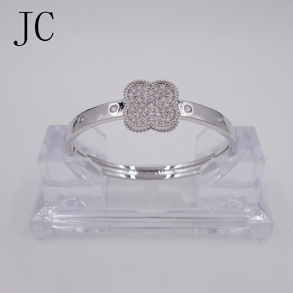 CZ Zircon Love Cuff Bangle Gold Plated Crystal Brand Lover Charm Bracelets Bangles For font b