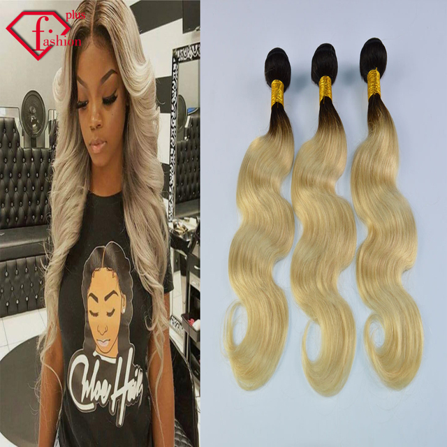 Hot Sell Hair 1b613 Two Tone Color Ombre Brazilian Hair Body Wave 3