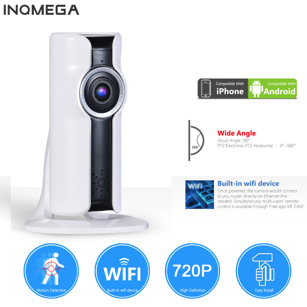 INQMEGA IP Camera 720P Wireless Panoramic Wifi Cam Home Security Surveillance CCTV Camera P2P Night Vision Baby Monitor